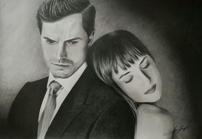 50 Sfumature, matite B0,5 B1 HB2 e H3 su cartoncino 33x48 Two People Adult Relationship Difficulties Love ♥ Black & White Drawing Draw Sketching Beautiful Woman Sketch Drawing ✏ Disegno Drawing, Painting, Artwork Matitabiancoenero Drawing - Art Product 50 Shades Of Grey 50 Shades Of Darker