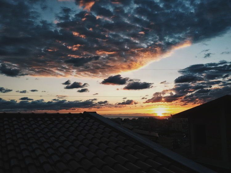 Sunset Architecture Cloud - Sky Sky Orange Color Nature Sun VSCO Beauty In Nature Photooftheday