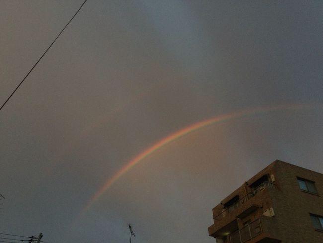 ダブルレインボー見たよ🌈🌈 Rainbow Building Exterior Architecture Built Structure No People Double Rainbow Low Angle View Sky Beauty In Nature Nature Ipadphotography IPad Air 2 皆様に幸運が訪れますよう…