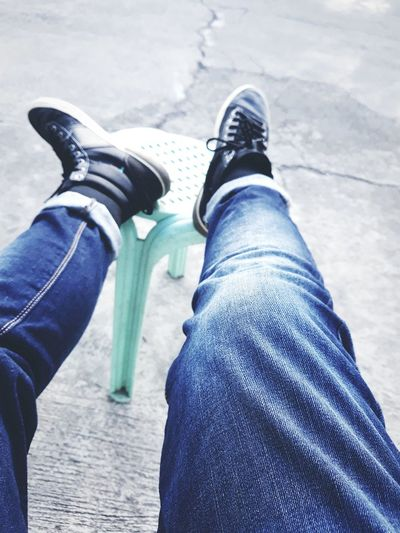 🤘🏻🤙🏻 Lifestyles Jeans Casual Clothing Human Leg Low Section Personal Perspective Shoe Human Body Part One Person Leisure Activity People Skateboard Day Blue Adult Outdoors Real People Adults Only Close-up One Woman Only First Eyeem Photo