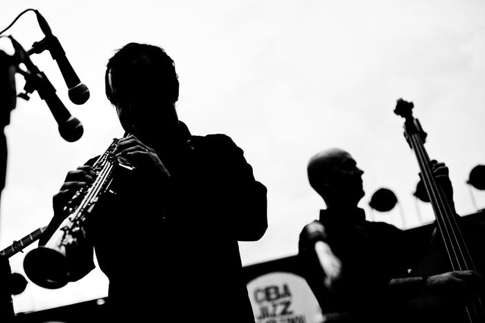 Black & White Jazz Concert Jazz Photography Jazzfestival Outdoor Concerts Silhouette