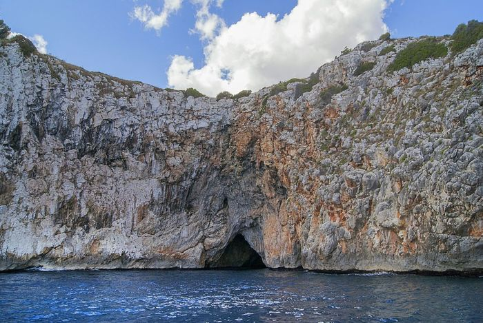 Cave Marine Cave Natural Caves Salento, Italy Otranto Castromarina Sud Italy Holiday See Cloud - Sky Sky Blue Nature Outdoors Water No People Landscape Scenics