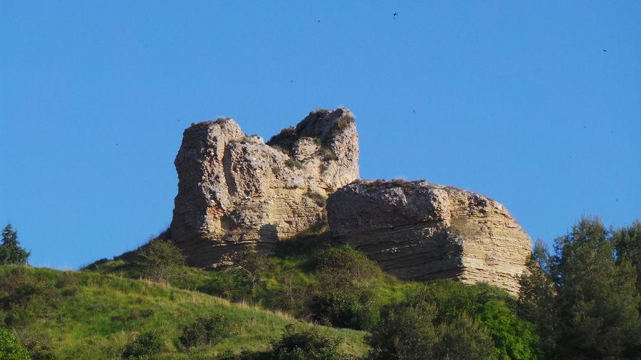 Scenic View Of Rock Formations At Camino De Santiago