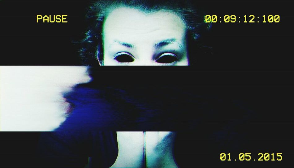 Glitch Glitchart Glitcheapp Evil Blackeyes Camera Photography Selfie Darkness Nofilter