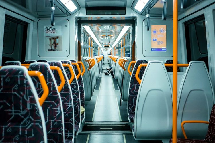 What happens on the train... Night Photography Night Transportation Seat Mode Of Transportation In A Row Vehicle Interior Vehicle Seat Public Transportation Train Travel No People Journey Architecture Indoors  Empty Absence Rail Transportation