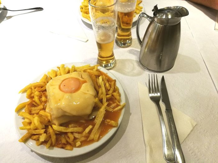 Food And Drink Table Food Plate Ready-to-eat Francesinha Gastronomy Tipicalfood Traditional Traditional Food Portuguese Food