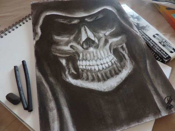 Coal Drawing ✏ Blackandwhite