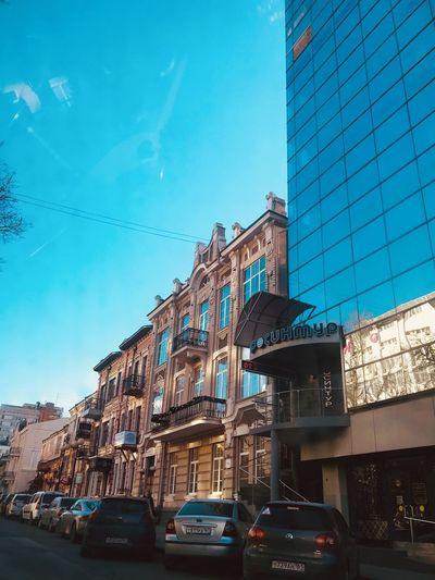 Pushkinskaya Street Rostov-on-Don Architecture Built Structure Building Exterior Sky Low Angle View Blue Land Vehicle