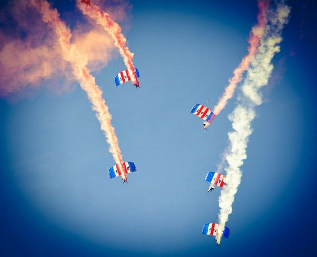 """""""Tighten up into formation"""" Sunderland Air Show 2014 Air Show Parachutes Taking Photos"""