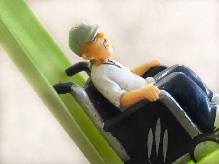 Homie Plastic Figure. Leaf Relaxing Time Disabled Wheelchair Disabled Rights Veteran