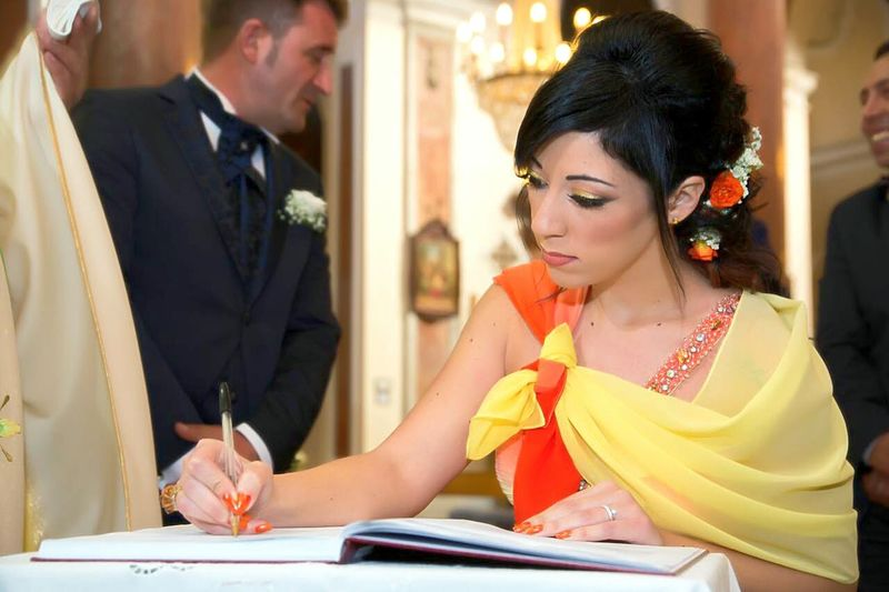 Dresses Wedding Wedding Day Wedding Photography Orange Color Yellow Color Elegant Elegance And Class Testimony Emocions Love Lovely Day Felicità Sicilia Matrimonio Colori