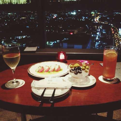 "41st floor bar & lounge ""top of Yokohama"" had luxualy time for the last night of trip"