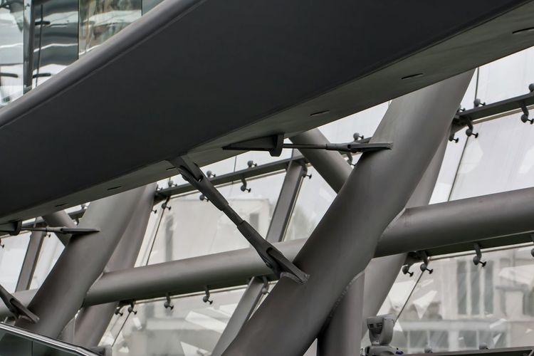 Elevated Walkway In Modern Building
