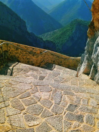 Steep Stairs Stone Steps Up In The Mountains High Up In The Sky  Mountains Mountain View Mountains And Valleys Mountain Village Agia Elona Monestary In The Mountains. Monestary Travel The Tourist GREECE ♥♥ The Old Country Heritage Traveling Old Way Antiquity Rock Formation Ancient Architecture Amazing Ancestry Ancient Ruins Historical Landmarks Historic Sites