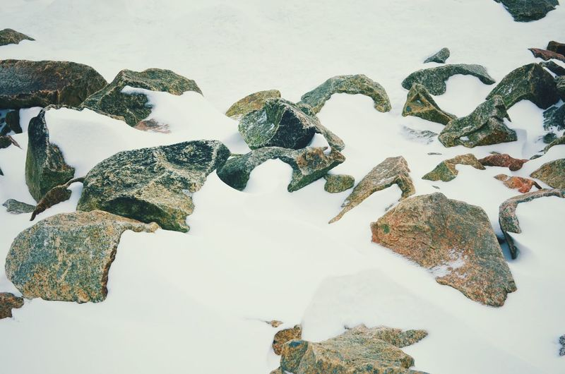 Outdoors Tranquility Ice Snow Frozen Water Reflections Cold Temperature Day Nature Beauty In Nature Water Cloud - Sky Show Winter Stone No People Scenics Rock - Object Patterns & Textures