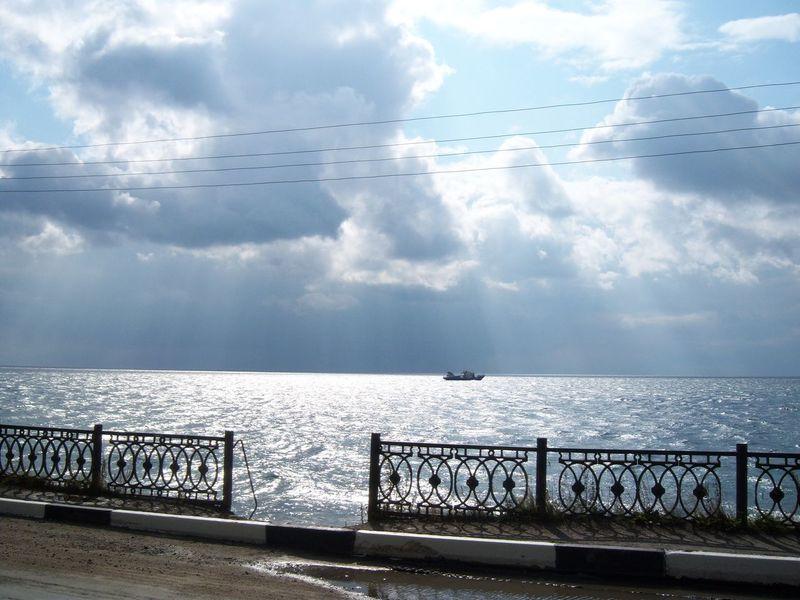 Listvyanka Horizon Over Water Idyllic Lake Baikal No People Sky Tranquility Water
