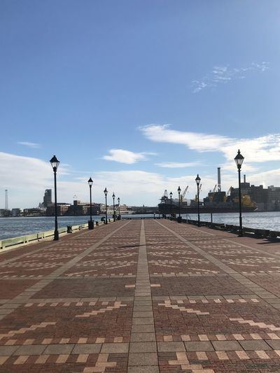 Bmore Harbor Pier Inner Harbor Baltimore Maryland Fells Point Waterfront Baltimore Sky Outdoors Cloud - Sky Street Light Day Street The Way Forward