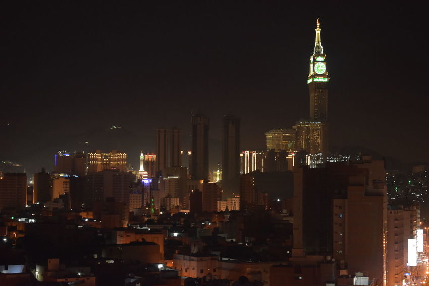 makkah muslimMakkah Tower Night City