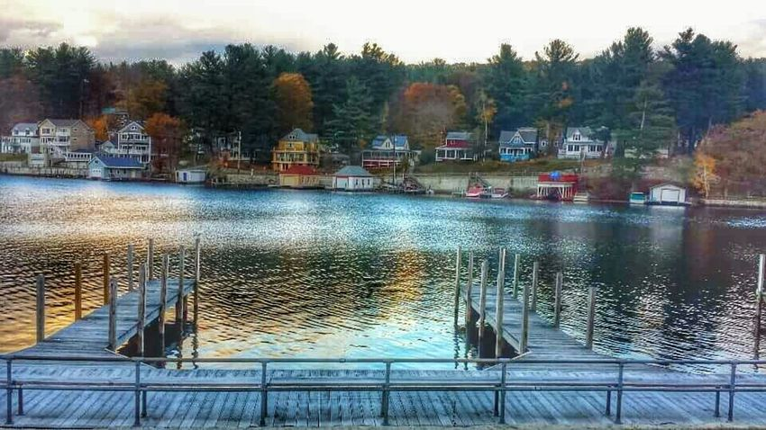 Seeing these pics definitely makes me homesick..Lake Winnipesaukee Lakewinni Newhampshire Homesick  Misshome Beautiful View Lake View Dockside Smalltownlife Boats Water Reflections