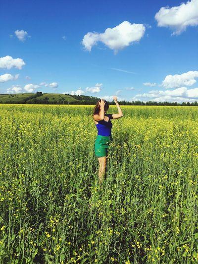 💚💙 Sky Summer July 2017 прекрасное лето отпуск татарстан Татария поле небо облака июль Nature Field