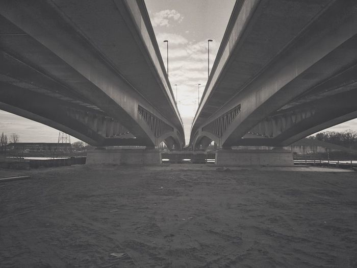 Bridge - Man Made Structure Connection Transportation Engineering Architecture Built Structure River Underneath Day No People Outdoors Below Sky City The Graphic City The Architect - 2018 EyeEm Awards The Architect - 2018 EyeEm Awards