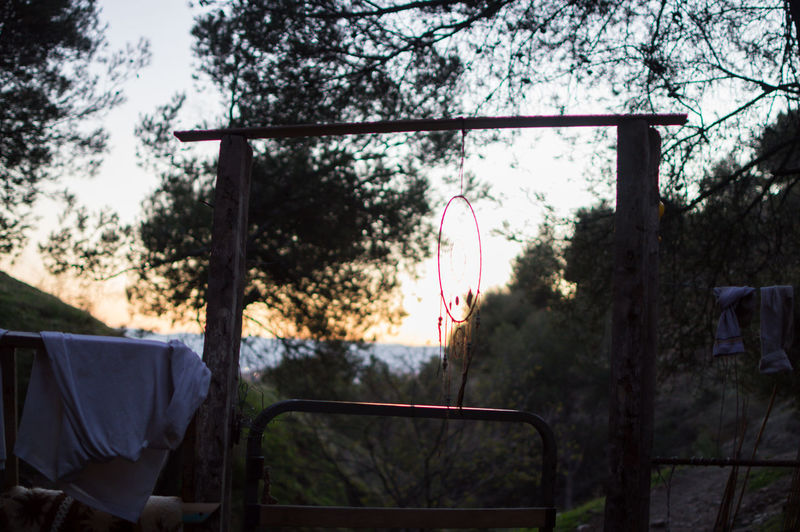 Granada, Spain SPAIN Andalusia Sacromonte Tree Plant Nature No People Focus On Foreground Sky Day Sunset Hanging Metal Outdoors Playground Absence Mode Of Transportation Transportation Land Growth Park Park - Man Made Space Travel Dreamcatcher