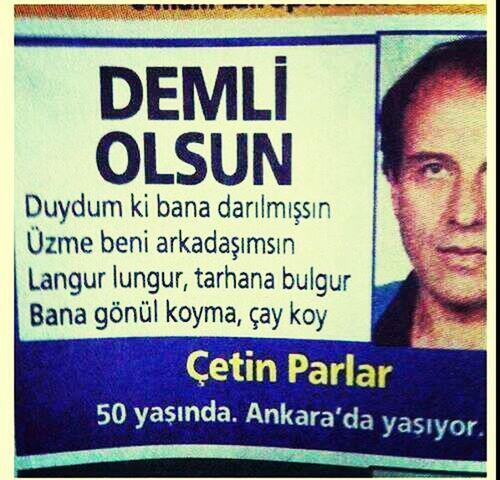 Ankara Tarhana Bulgur şiir aşkı :)