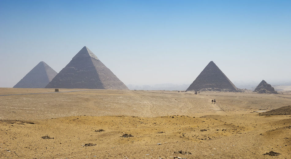 Panoramic view of ancients pyramids in egypt
