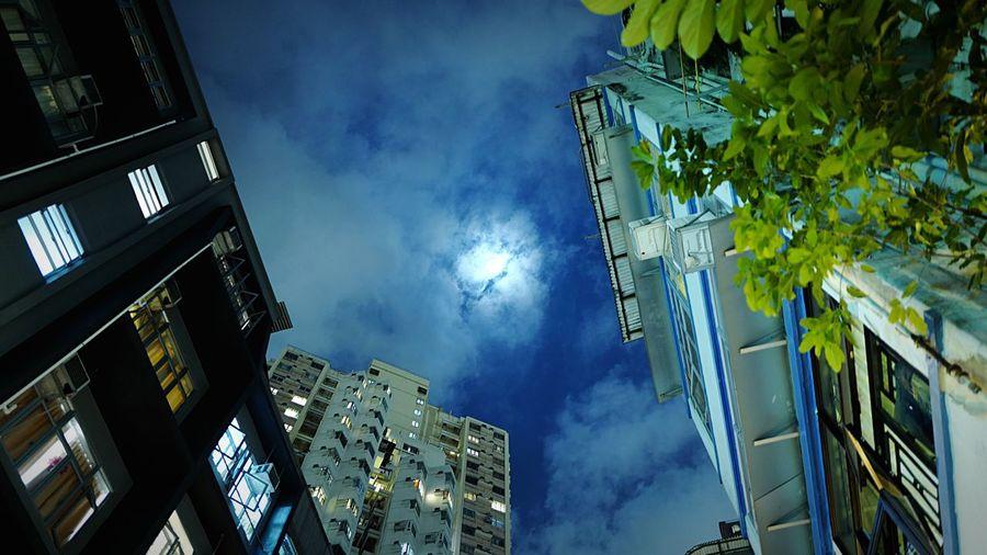 at Taihang HongKong Discoverhongkong Leica Leicaq Nightphotography Streetphotography Cloud Moon Night Lights Pmg_hok