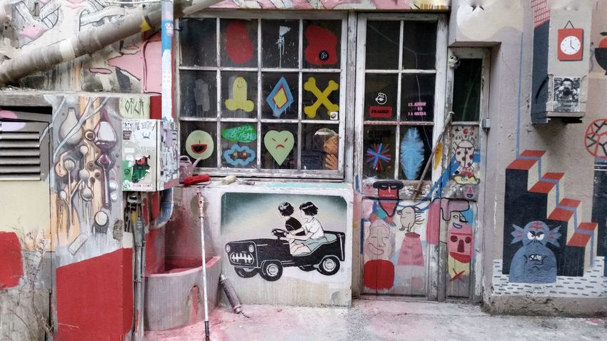 Graffiti Window Multi Colored Building Exterior No People Built Structure Outdoors Architecture Day Mural Art Mural Graffiti Art Art, Drawing, Creativity Photooftheday Picoftheday Barcelona EyeEm Gallery