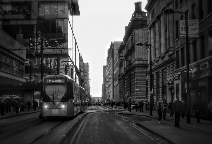 This is Mosley Street one of main streets in Manchester part of The streets of Manchester series Architecture Building Exterior Transportation City Street Travel Destinations EyeEm Masterclass Blackandwhite Photography Monochrome Photography Black And White Portrait Black & White Photography Bnw_captures Bnw_collection Creative Light And Shadow Malephotographerofthemonth Close Up Photography Manchester UK Black And White Photography Streets Of Manchester Tram Street Photography Streetphoto_bw Street Portrait The Streets Of Manchester The Street Photographer - 2017 EyeEm Awards The Street Photographer - 2017 EyeEm Awards