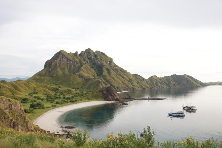 This ia one of the beautiful island on komodo national park, indonesia, called padar island.