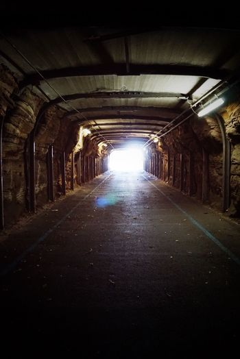 What kinda world you are going Tunnel The Way Forward Built Structure Architecture Illuminated Old Buildings Unpredictable