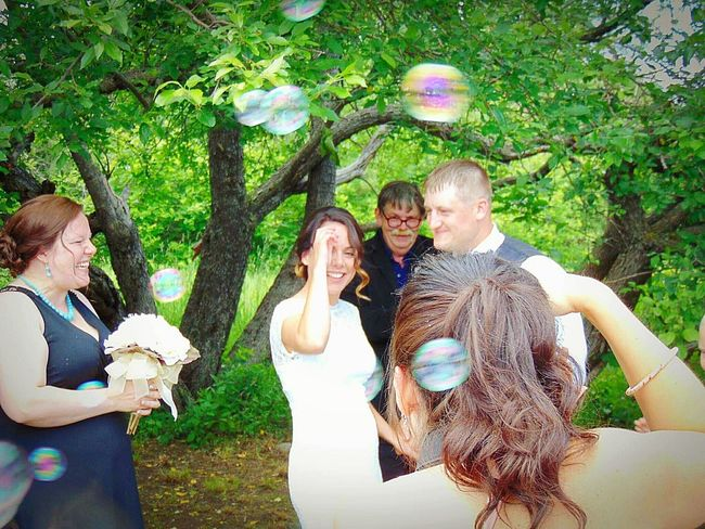 This our son and daughter in laws wedding in the country up state New York. I know the photographer was in front of me, but this to me is from the eye of the guests. I absolutely loved their expressions. Flowers Wedding Weddinginspiration Wedding Ceremony Trees Family