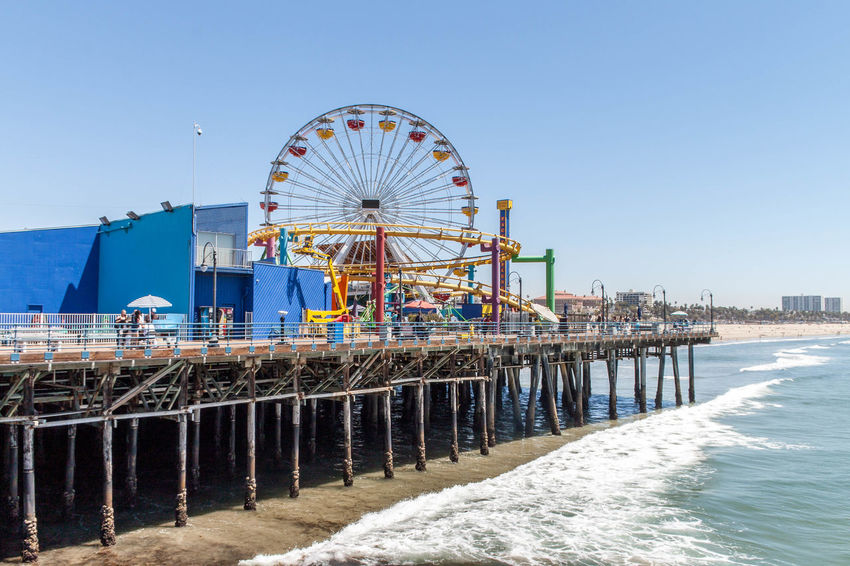 Santa Monica pier. Beautiful Scenery California City Cityscape Cityscapes Clear Skies Clear Sky Fair Fairground Faris Wheel La Los Angeles, California Los Ángeles Pier Santa Monica Santa Monica Pier Summertime Travel Travel Destinations Travel Photographer Travel Photography Traveling Waves West Coast