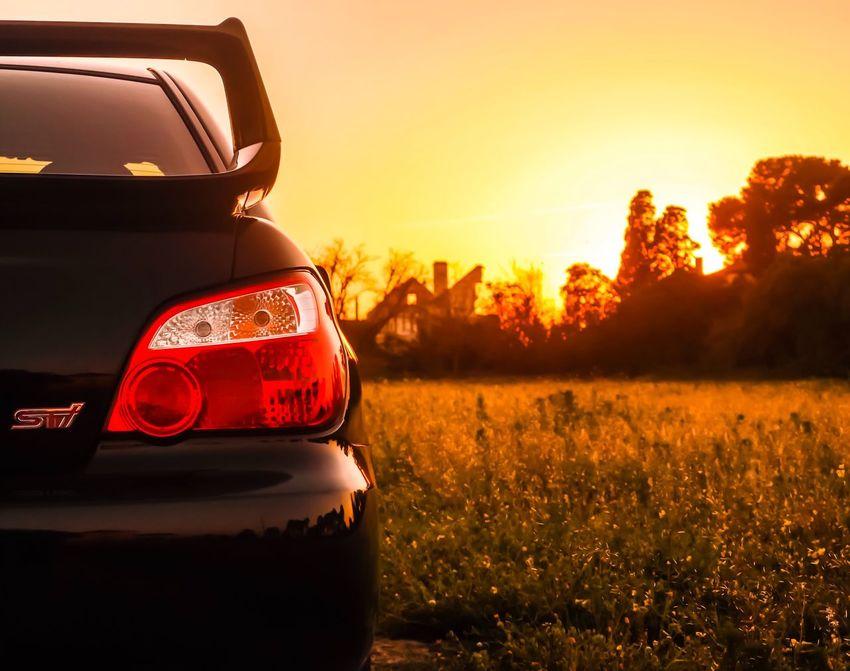 Subaru STI Impreza Subaru Impreza Wrx STi Sunset Portugal Margemsul