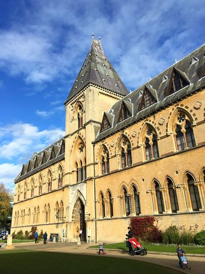 Architecture Building Exterior Built Structure Religion Place Of Worship Sky Travel Destinations Low Angle View Façade Day Outdoors Rose Window No People Cultures Oxford University National Museum