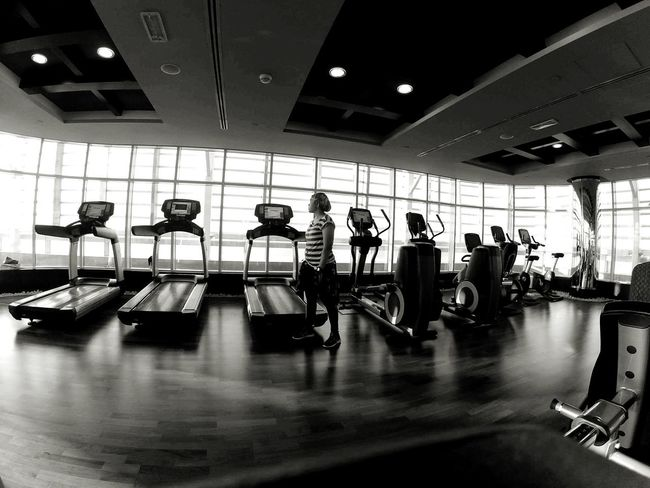 Gym Workout Malaysia Chayok Sihat Jomsihat Bersenam Bestrong Blackandwihite Indoors  No People Day Health Club Black & White B&w Street Photography B&w Fitness