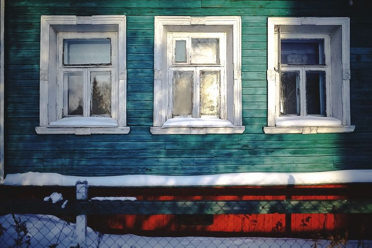 Russian house Window Building Exterior Architecture Built Structure Day No People Colour Your Horizn Outdoors