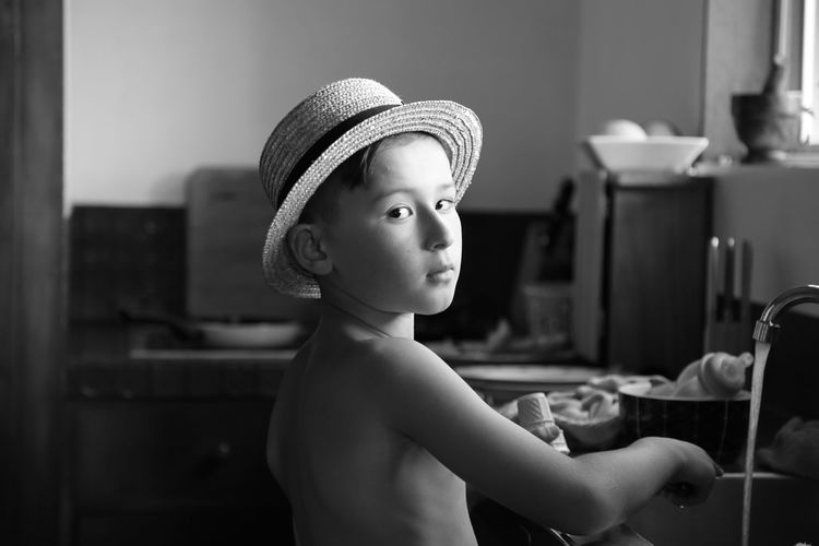 Child Childhood Cute Hat Indoors  Innocence Looking One Person Real People