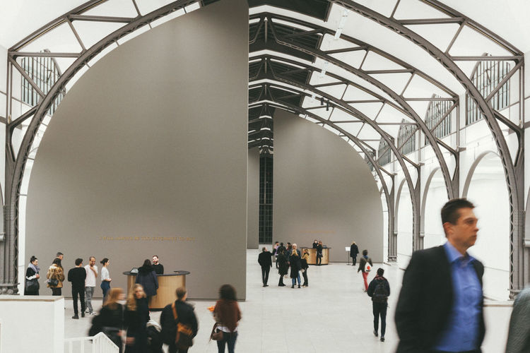 Inside the big hall. Adult Architecture Berlin Berlin Photography Berliner Ansichten Built Structure Businessman City City Life Cityscape Day Germany Hamburger Bahnhof Indoors  Large Group Of People Men Modern People Real People Standing Streetphotography Urban Walking Well-dressed Women