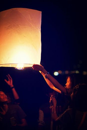 Let all the past go..... New Year Lantern Beach