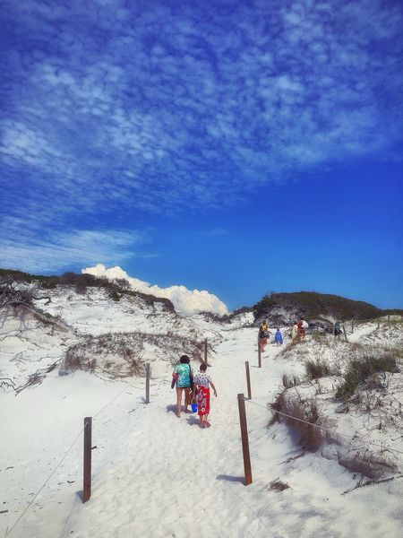 Exploring the dunes 🌊☀️🐦 Beach Textures And Surfaces White Sand Lookingup Wandering Around Aimlessly Outdoors Summer Warmth Leisure Activity Scenics Blue Adventure Cloud - Sky Walking Around Taking Photos Relaxing