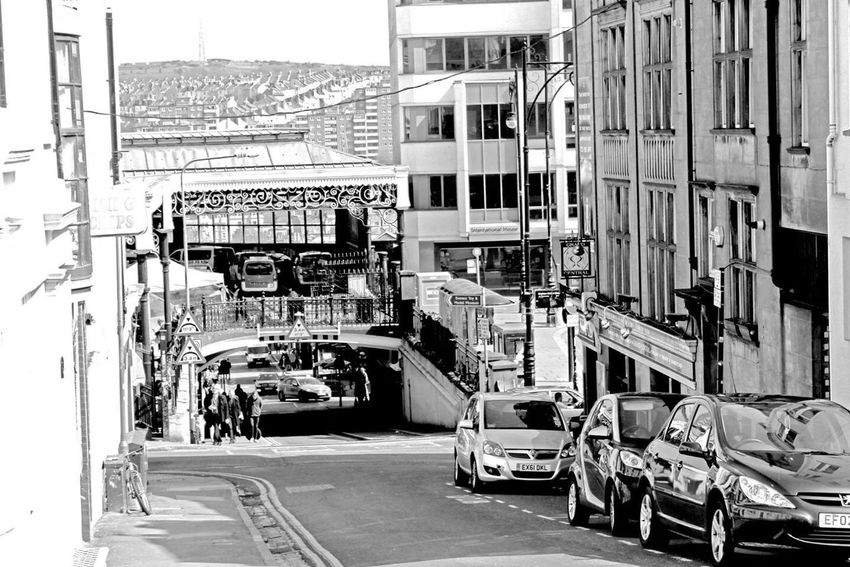 Brighton in black & white Brighton Black And White Train Station Street Photography