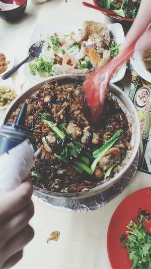 Claypot rice TheBreadeats TheBreadeatseverywhere Singaporefood Claypotrice