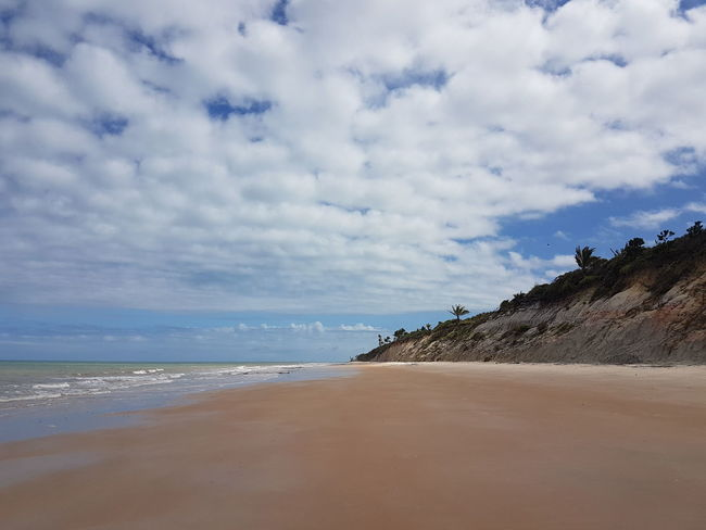 Beach Sand Sea Cloud - Sky Landscape Nature Sky Horizon Over Water Tourism Travel Destinations Water's Edge Beauty In Nature Scenics Vacations Outdoors Day Wave Tranquility Water Full Length EyeEmNewHere No Filter EyeEm Gallery Bahia/brazil