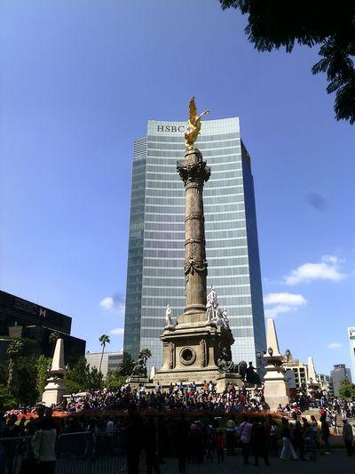 ángeldelaIndendencia Sky Day Architecture City Esculturas Y Estatuas Luz Y Sombra  Mexico City City Life Cdmx Fotografia First Eyeem Photo EyeEm Photography CDMX. Cultura Mexicana Mexico_maravilloso Nightphotography