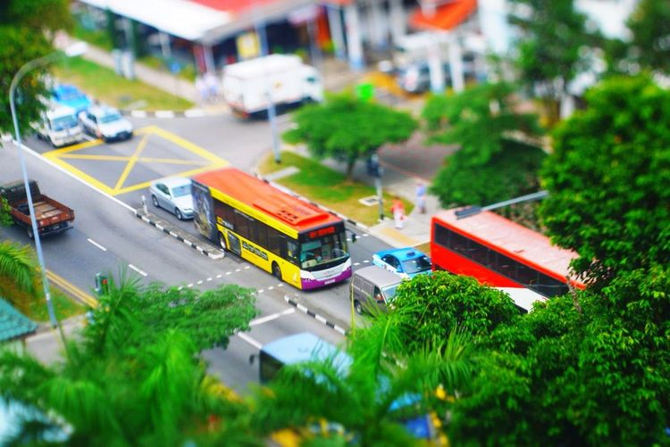 Like a miniature Taking Photos Photography Eyeemindonesia EyeEm Singapore View Traffic Check This Out Tilt And Shift Tiltshift Hanging Out