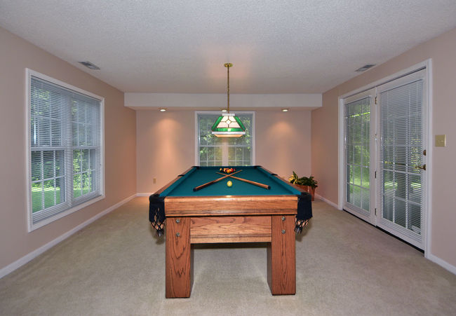 Game room with windows on 3 sides. Architectural Feature Architecture Architecture_collection Architecturephotography Architectureporn Billiards Built Structure Day Domestic Room Home Home Decor Home Design Home Interior Home Showcase Interior Homesweethome Indoors  Interior Design Living Room No People Pool Table Residence Residential  Residential Building Residential Structure Window