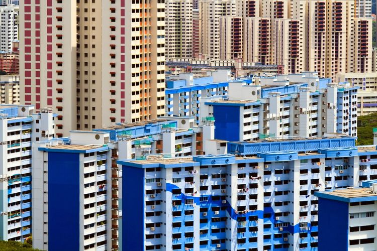 View Of Singapore Apartments